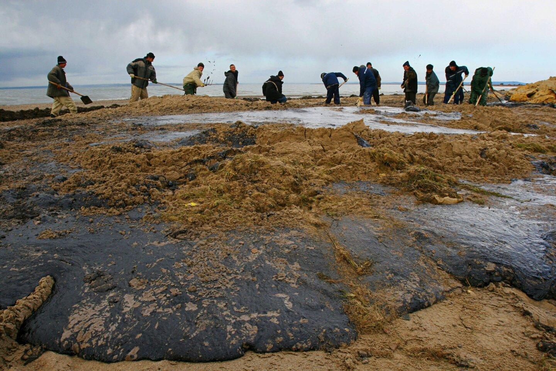 Russian oil spill