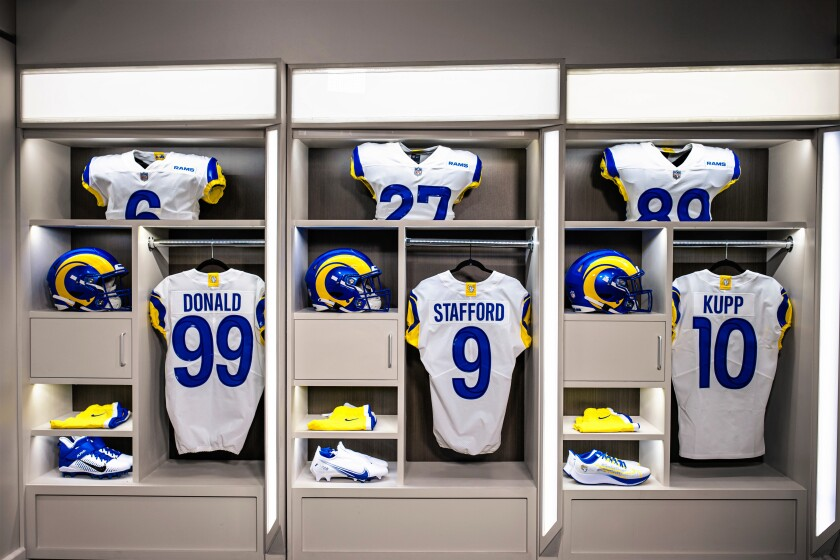 Rams release new uniforms, recalling their L.A. roots - Los Angeles Times