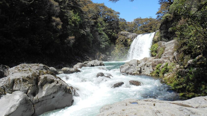 """Known as the """"Lord of the Rings"""" falls, this waterfall in Tongariro National Park is the location filming site for Mordor, the stronghold of Lord Sauron, in """"Lord of the Rings."""""""