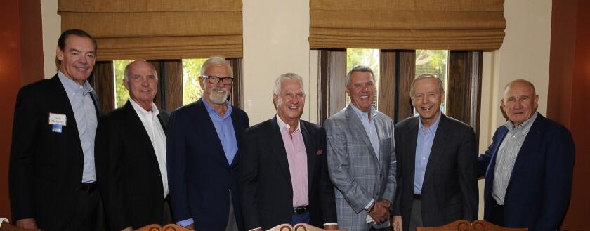 Jack McGrory, Tom Sudberry, Richard Woltman, Doug Manchester, Doug Barnhart, former Gov. Pete Wilson and Peter Farrell.