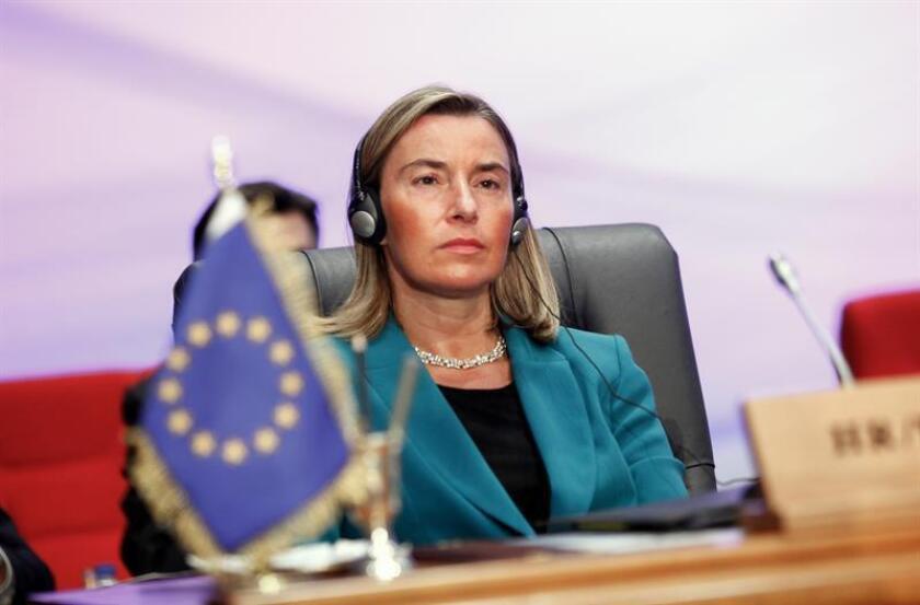 La alta representante de la UE para la Política Exterior, Federica Mogherini. EFE/Archivo