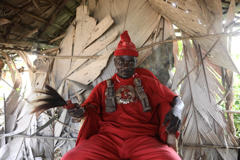 Village chiefs in the region wear red as a symbol of blood and power.