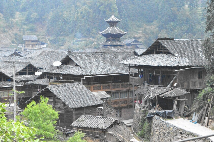 The drum town in Zengchong, China, was built in 1672.