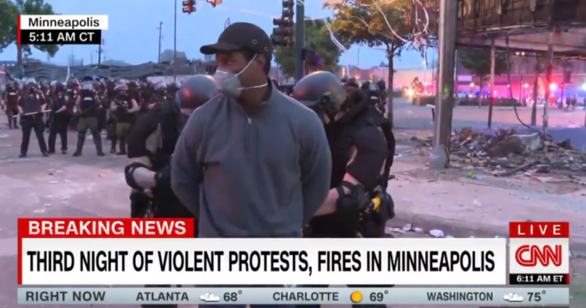 CNN's Omar Jimenez is handcuffed on live TV during Minneapolis protests.