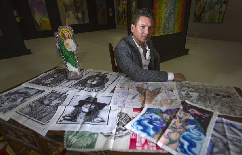 Alexander Salazar started collecting prison art in the aftermath of his father's shooting in Houston 25 years ago. He's planning an exhibit of the art at his downtown San Diego gallery next month.