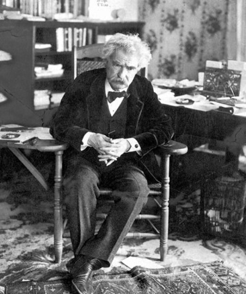 Author Samuel Clemens, known to the world as Mark Twain.