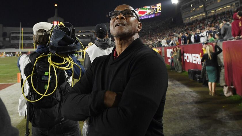 USC athletic director Lynn Swann has been intensely involved in football recruiting, particularly since the season ended.