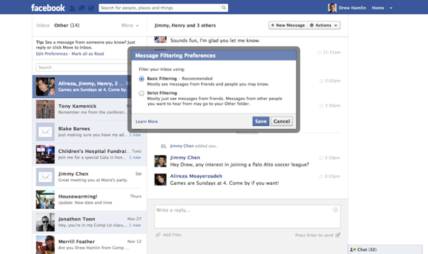 Facebook still testing paid messages (haters still hate them)