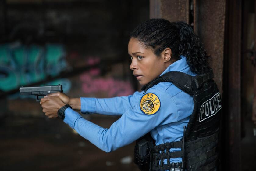 """Naomie Harris as a New Orleans police officer in the movie """"Black and Blue."""""""