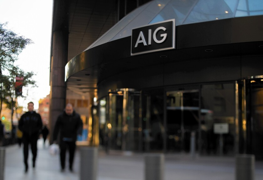 Under the terms of a deal to sell International Lease Finance Corp. to AerCap Holdings, AIG said it would get $3 billion in cash and about 97.6 million shares of AerCap Holdings — about 46% of AerCap's stock. AerCap would have control of the merged company. Above, AIG's New York offices in October.