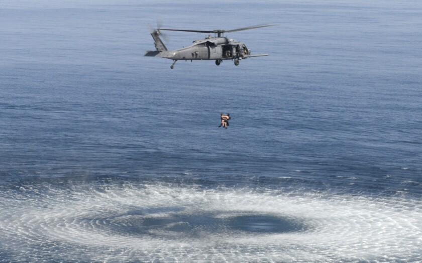 Joint search and rescue training exercise