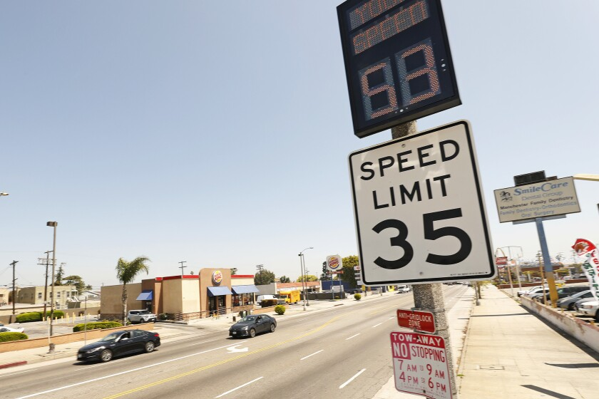 Letters to the Editor: California's 85th percentile speed limit law is killing pedestrians