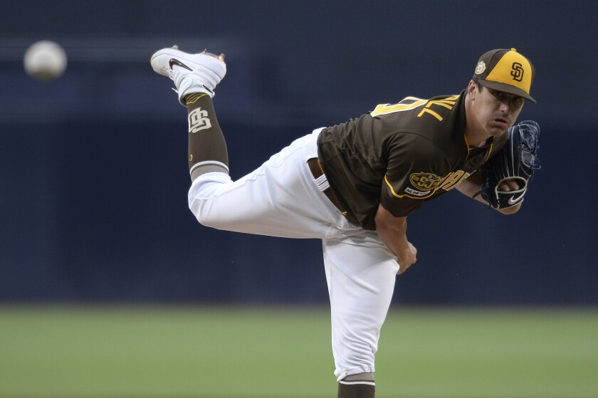 Padres rookie Cal Quantrill worked a career-high seven scoreless innings Friday night against the Colorado Rockies at Petco Park.
