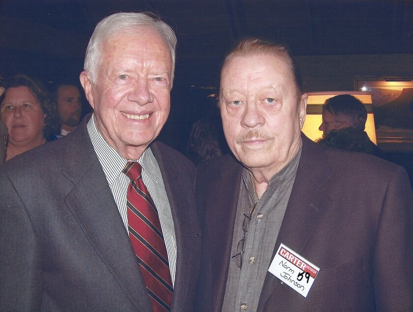 Former President Jimmy Carter with Norm Johnson.