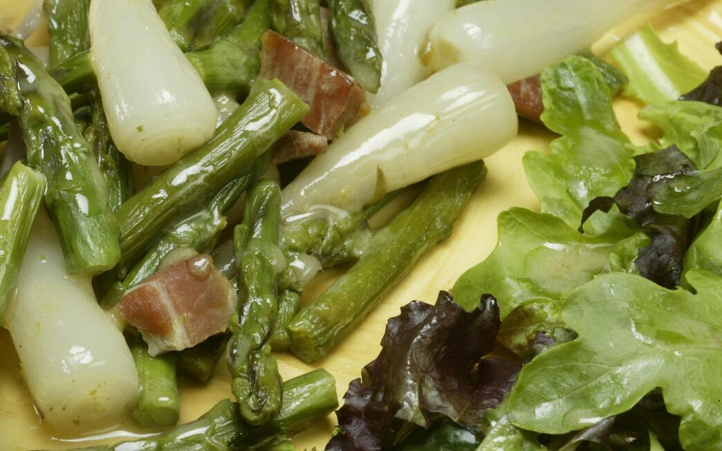 Ramps, asparagus and ham