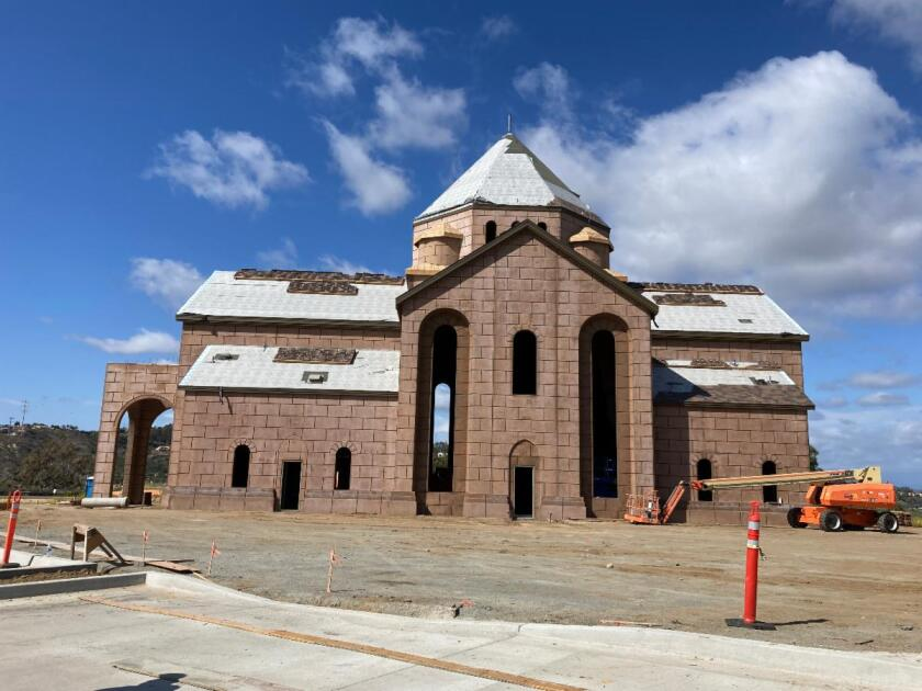 St. John Garabed Church is under construction on El Camino Real, slated for completion this fall.