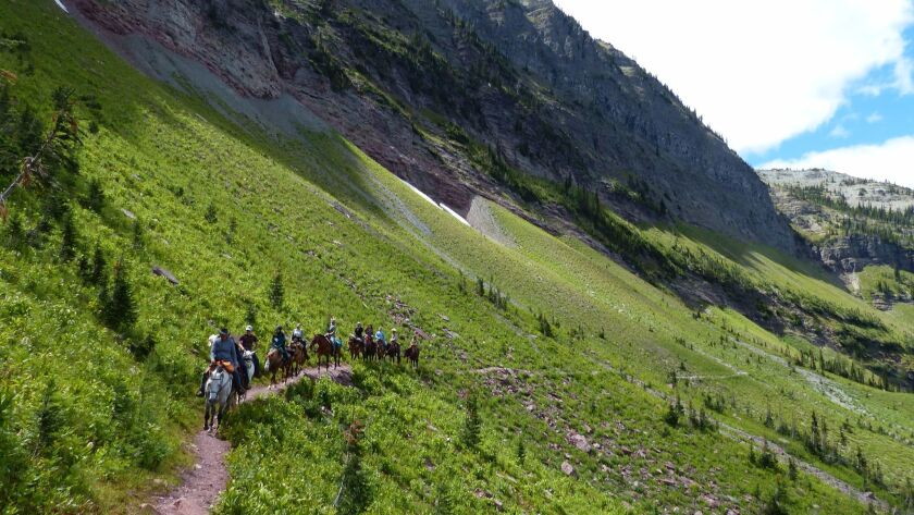 You can take horseback trips into Waterton Lakes National Park that last four, five or six days.