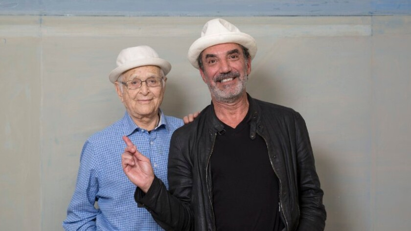 Television producers and series creators Norman Lear, left, and Chuck Lorre agree that there is much to love about the multi-camera comedy and its live audiences.