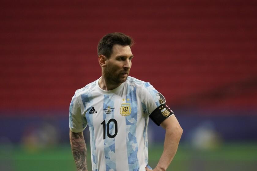 La foto del lunes 21 de junio de 2021 muestra a Lionel Messi,