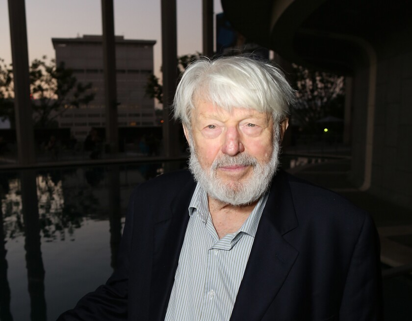 "Theodore Bikel is seen on opening night of ""November"" at the Center Theatre Group/Mark Taper Forum in Los Angeles."