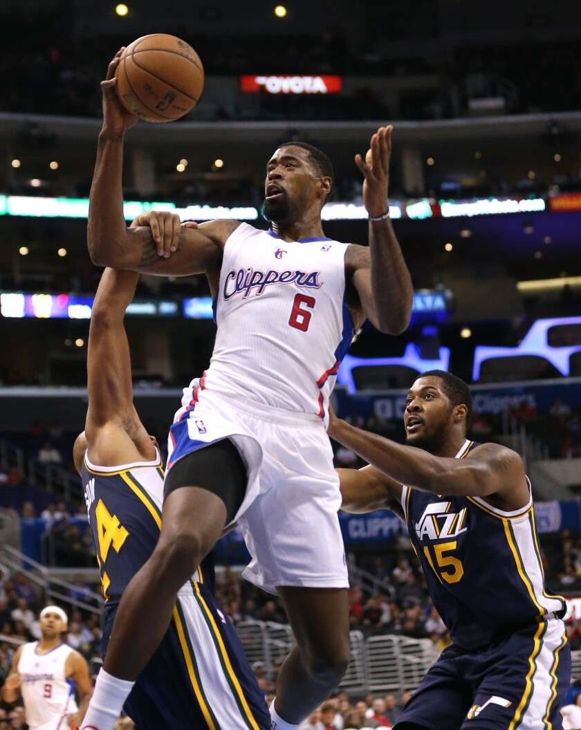Clippers center DeAndre Jordan will have a difficult defensive assignment against Pau Gasol of the Lakers.
