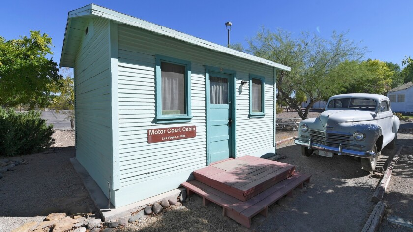 A motor court cabin from Las Vegas in the 1930's is seen at the Clark County Museum Thursday, June 2