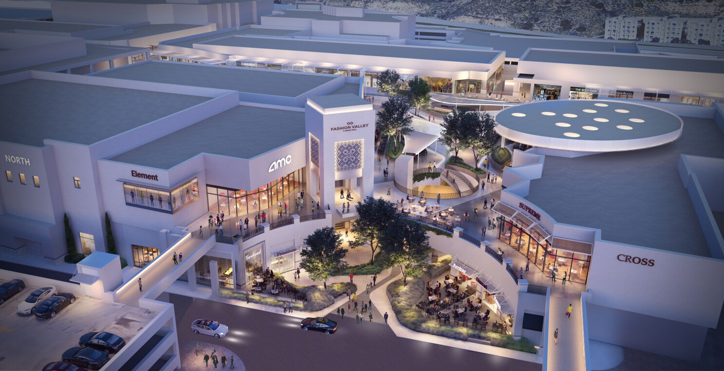 Fashion Valley Is Getting A Resort Style Makeover The San Diego Union Tribune
