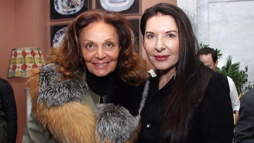 Diane von Furstenberg and Marina Abramovic