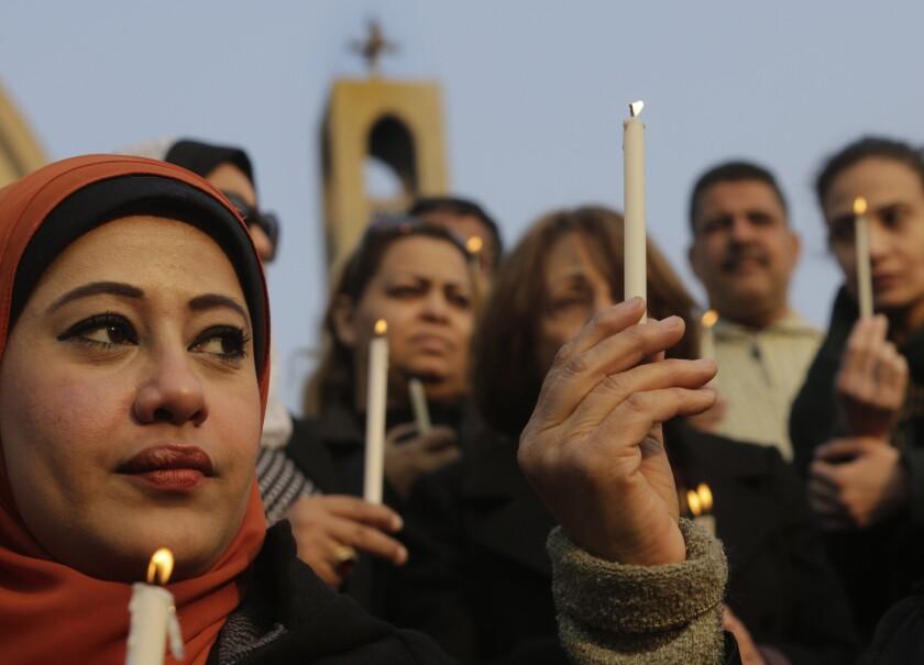 Egyptians light candles