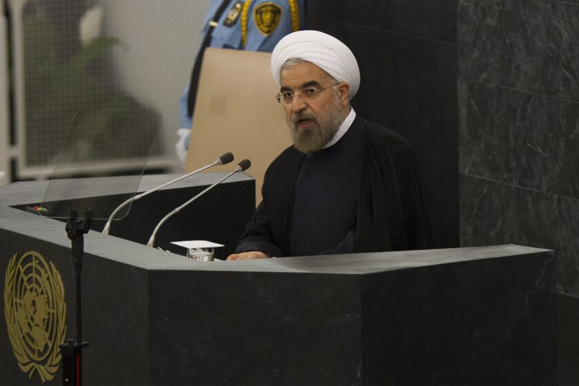 Depending on their political views, Iranians saw both hopeful signs of potential improvement in relations with the West and a lack of concrete steps to get sanctions relief after President Hassan Rouhani, above, addressed the U.N. General Assembly on Tuesday.