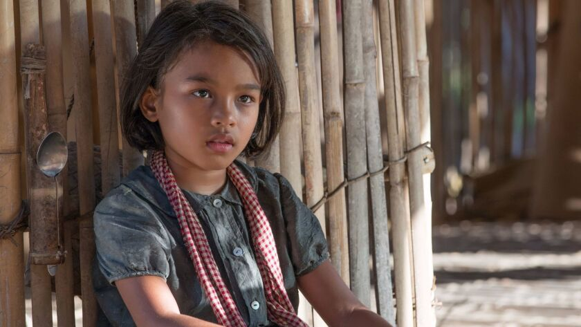 "Sareum Srey Moch as Loung Ung in Angelina Jolie's new film, ""First They Killed My Father."""
