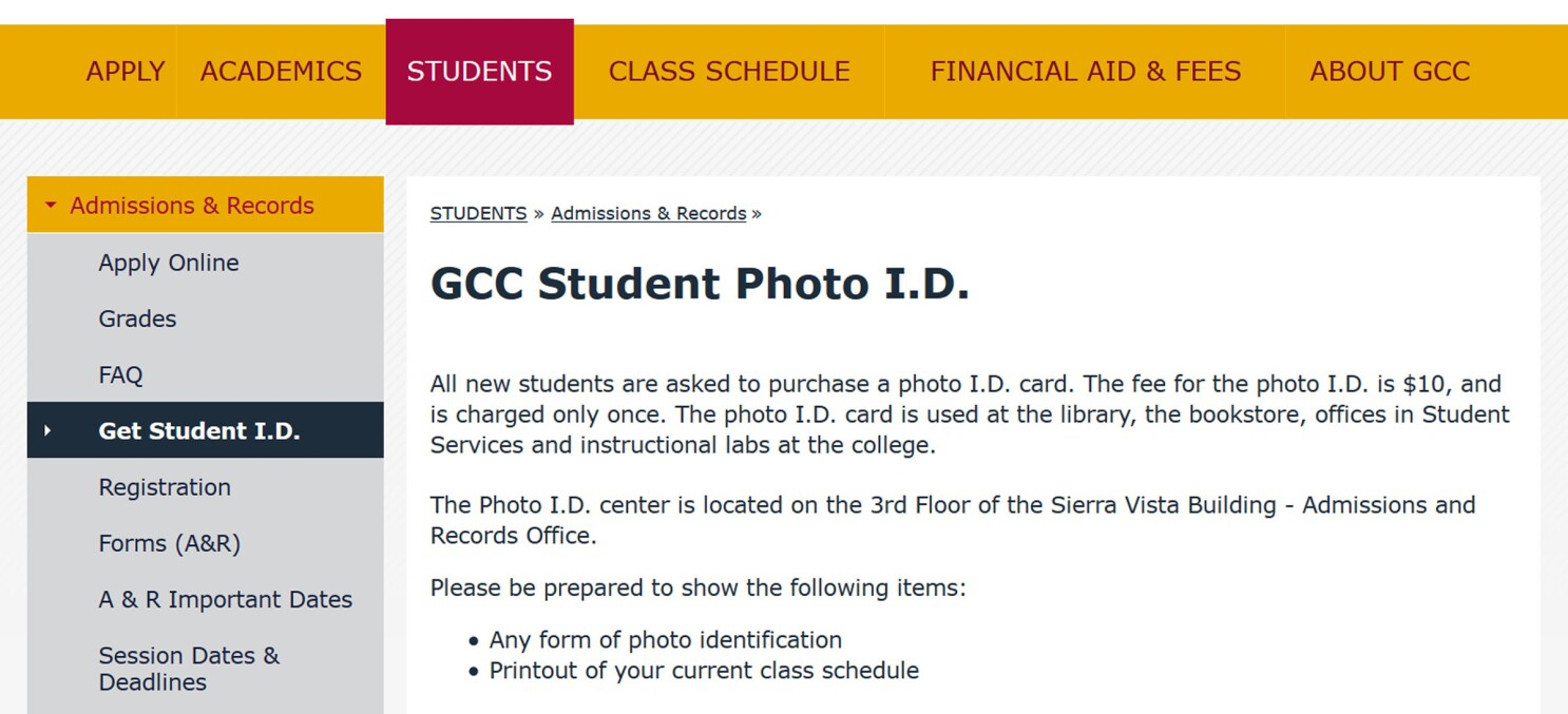 Glendale Community College to return fees for student IDs it likely shouldn't have collected