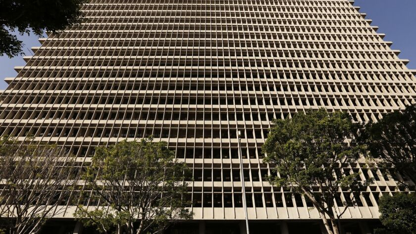 LOS ANGELES, CA - MAY 18, 2017 --The Clara Shortridge Foltz Criminal Justice Center is the county co