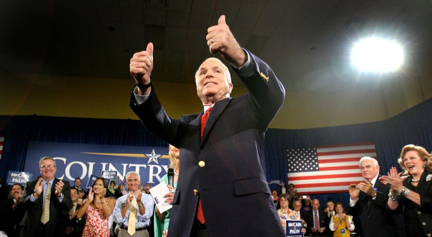 Sen. John McCain at the Asociacion Borinquena de Florida Central in Orlando for a campaign event on Sept. 15, 2008.