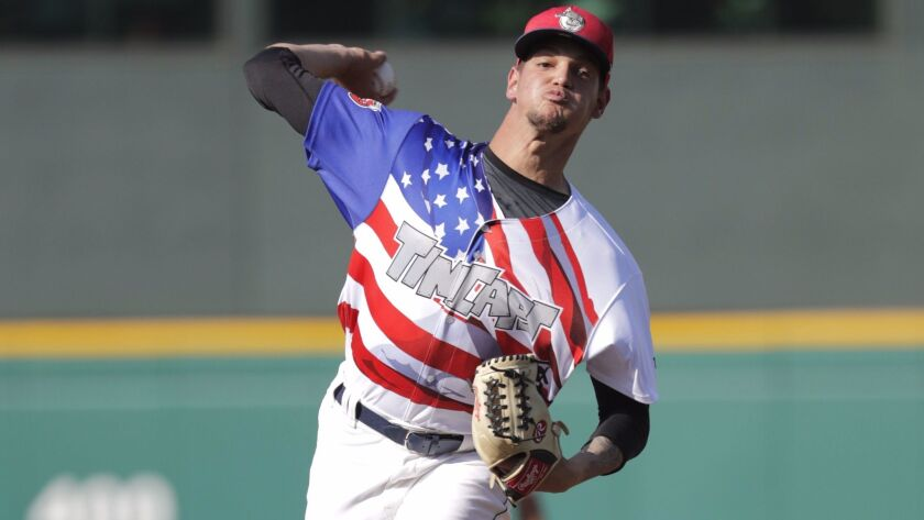 Padres pitching prospect Michel Baez was signed out of Cuba for $3 million in the 2016-2017 internat