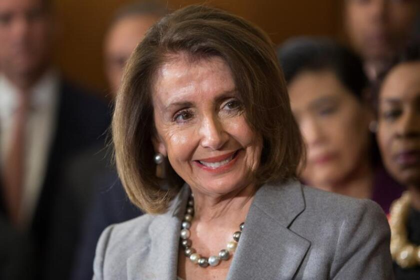 Speaker of the House Nancy Pelosi participates in a press conference at the Capitol in Washington on March 12, 2019. EFE-EPA/ Michael Reynolds