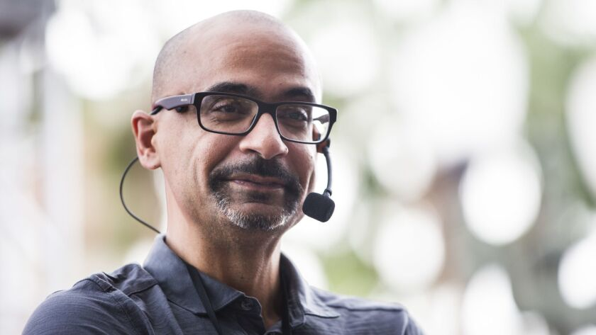 Author Junot Díaz at the Los Angeles Times Festival of Books.