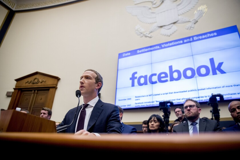 Mark Zuckerberg, testifying before a House panel in Washington last week, has resisted pressure to block candidates from lying in Facebook ads.
