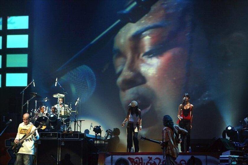 La banda puertorriqueña de reggae, Cultura Profética, se presenta en concierto. EFE/Archivo