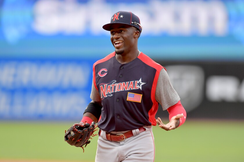 Padres GM A.J. Preller on outfielder Taylor Trammell, shown during the July 7 Futures Game in Cleveland: 'All the components are there.'
