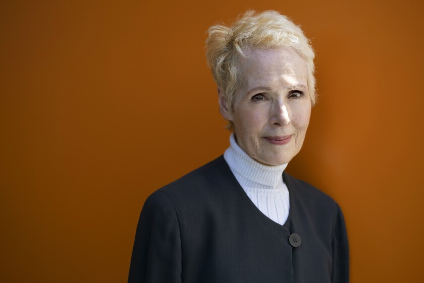 E. Jean Carroll in New York in June. Lawyers for Carroll, who accuses President Trump of raping her in the 1990s, are asking for a DNA sample, seeking to determine whether his genetic material is on a dress she says she wore during the encounter.