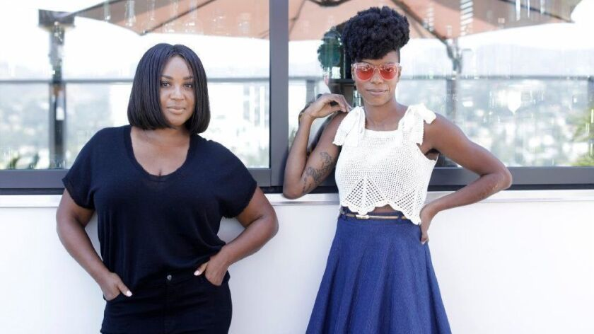 """Stella Meghie, left, the director and Sasheer Zamata, star of """"The Weekend,"""" a romantic comedy premiering at the Toronto International Film Festival."""