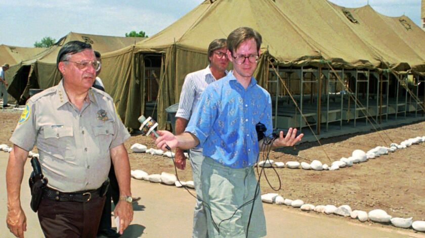 Sheriff Joe Arpaio with reporters in 1993.
