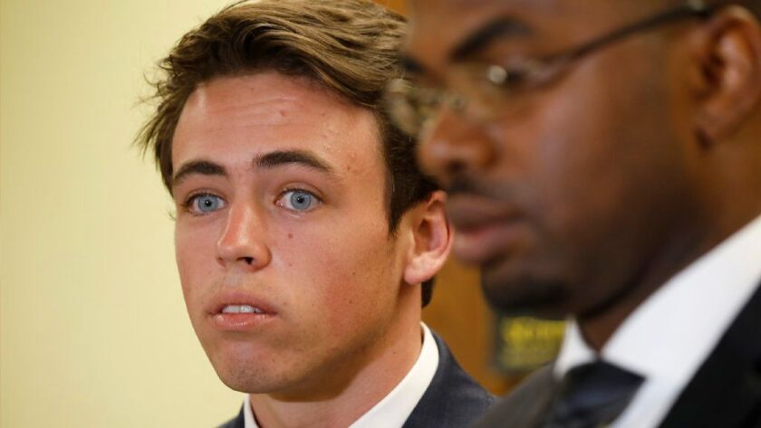 Cameron Terrell is pictured in July, when a jury found him not guilty of murder in the killing of Justin Holmes, 21.