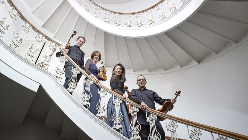 Brentano Quartet will perform with soprano Dawn Upshaw at Segerstrom Center in Costa Mesa.