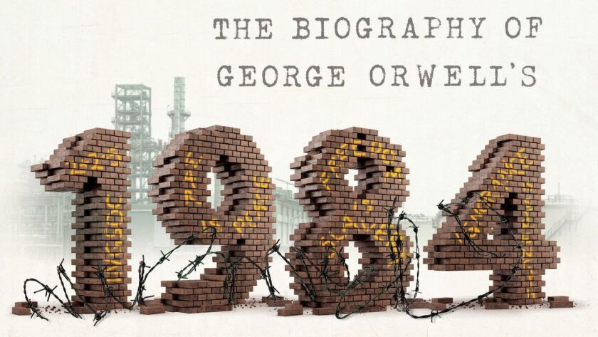 "A book jacket for ""The Ministry of Truth: The Biography of George Orwell's 1984,"" by Dorian Lynskey."