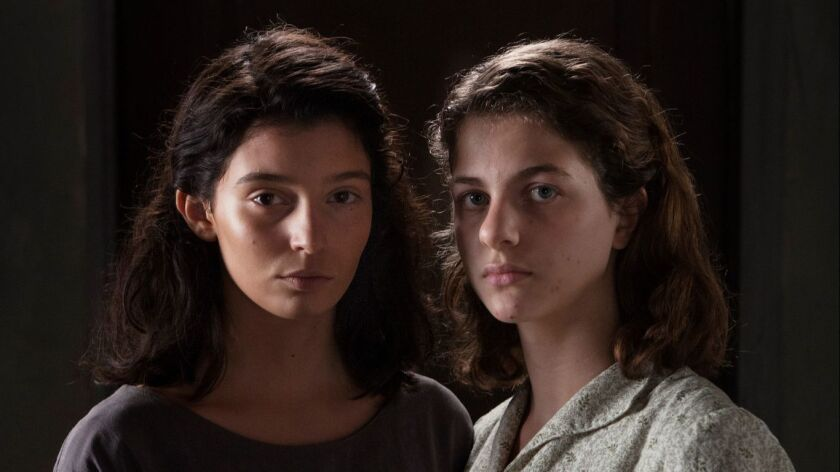 "(L-R) - Elisa Del Genio and Ludovica Nasti in a scene from ""My Brilliant Friend."" Credit: Eduardo Ca"
