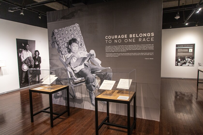 """""""Call to Serve: Clara Breed & the Japanese American Incarceration"""" exhibition"""