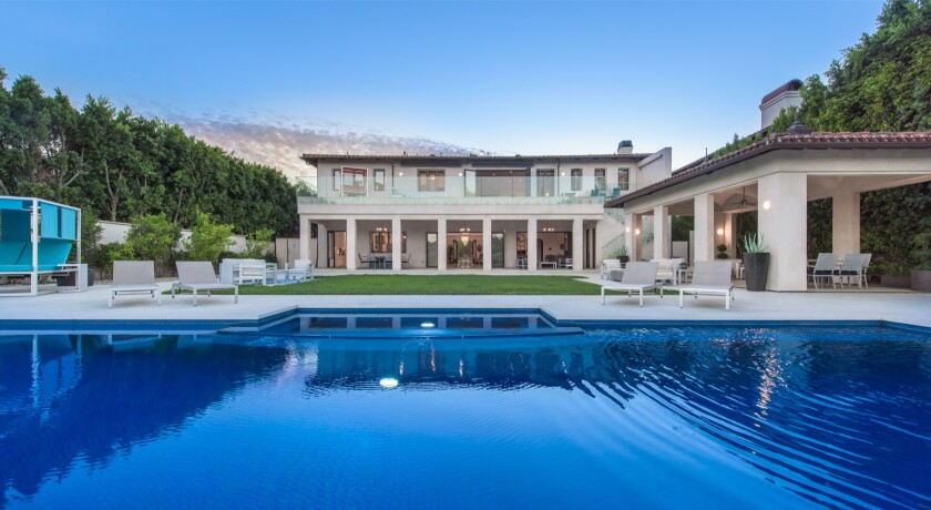 The Mediterranean-style spot boasts eight bedrooms, 12 bathrooms and a 25,000-gallon infinity pool overlooking the mountains.
