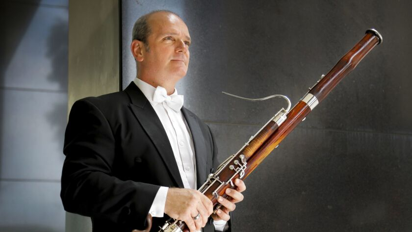 SAN DIEGO, CA 8/8/2018: Valentin Martchev, born in Bulgaria is the principal bassoonist for the San